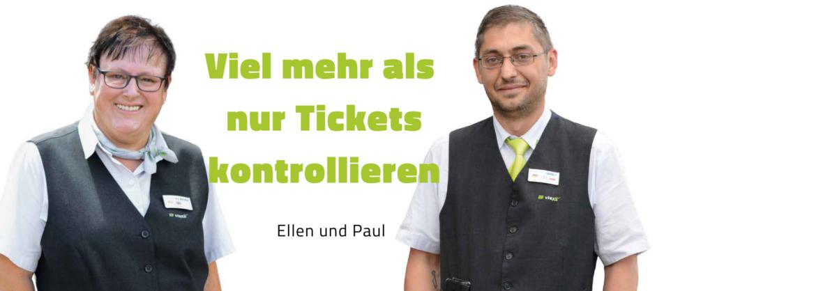 Fahrgastbetreuer Ellen und Paul