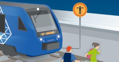 Gefahr und Behinderung zugleich: Personen im Gleisbereich