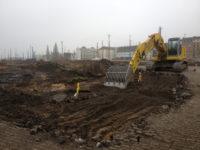 Bauvorbereitung an der Mombacher Straße