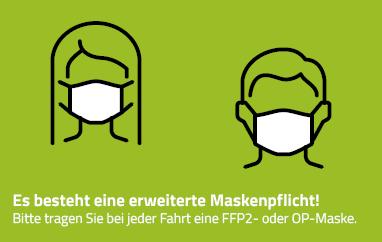 Grafik erweiterte Maskenpflicht